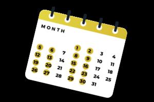 Calendar 4 days a week2